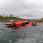 Cuatro tripulantes fueron rescatados desde una embarcación siniestrada en el Canal Ferronave en Puerto Aguirre