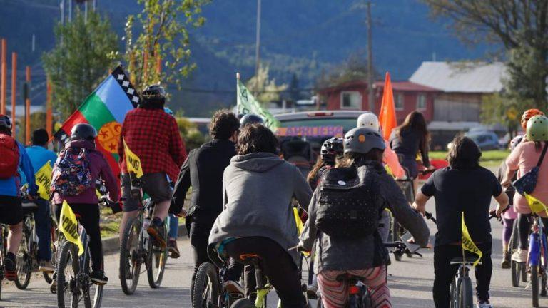 Cicletada por los derechos sociales se realizó este fin de semana en Puerto Aysén