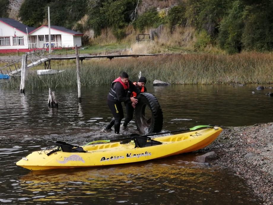 Trescientos kilos de basura: Limpian el fondo marino del Lago Elizalde y la Laguna Cea